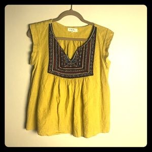 THML yellow top with Embroidery